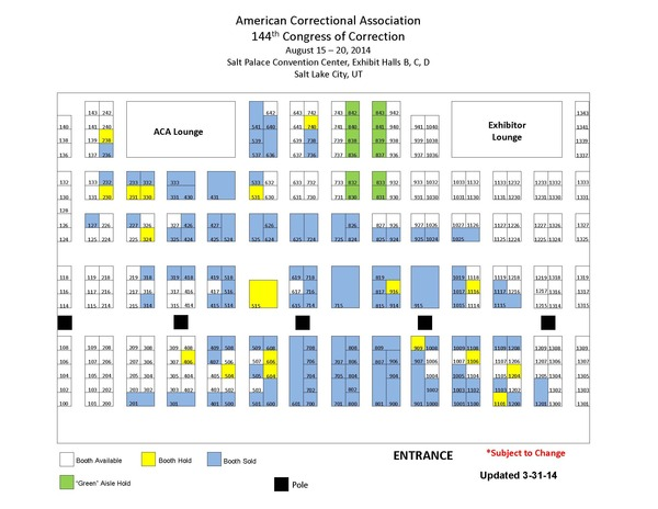 ACA Exhibitor Diagram